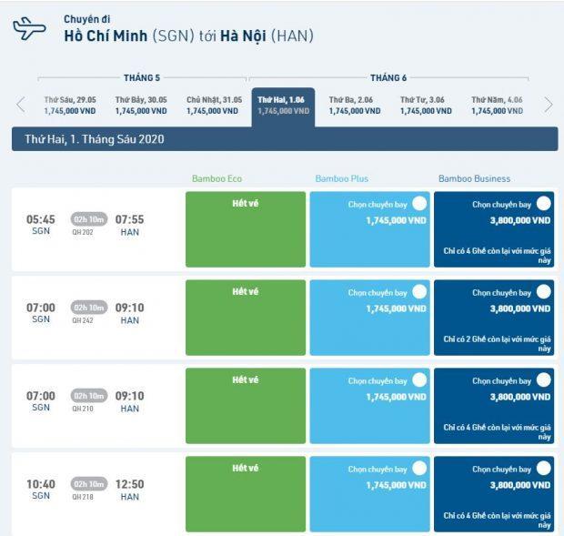 Hướng dẫn đặt vé máy bay Bamboo giá rẻ trên website chính thức