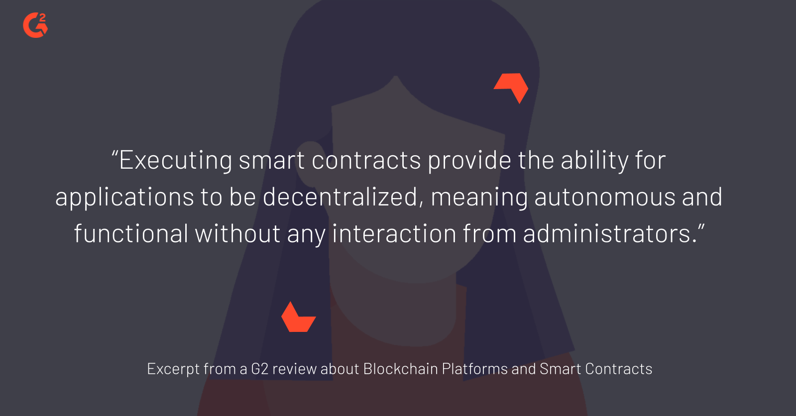 Excerpt from a G2 review about blockchain