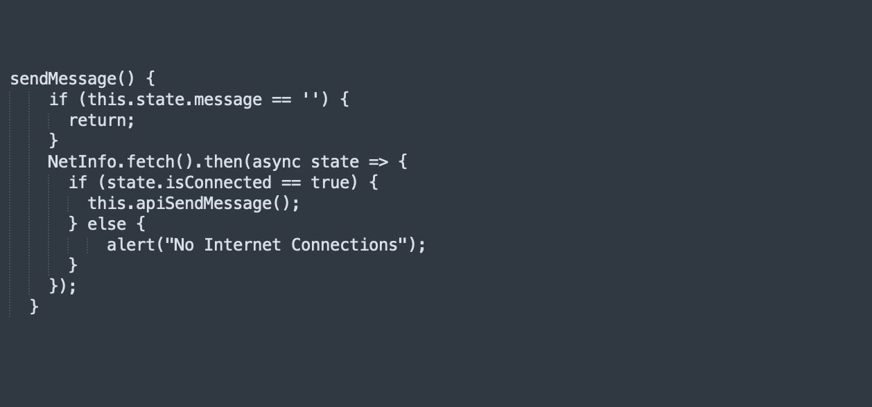 sendingMessages and integrate the rest API call