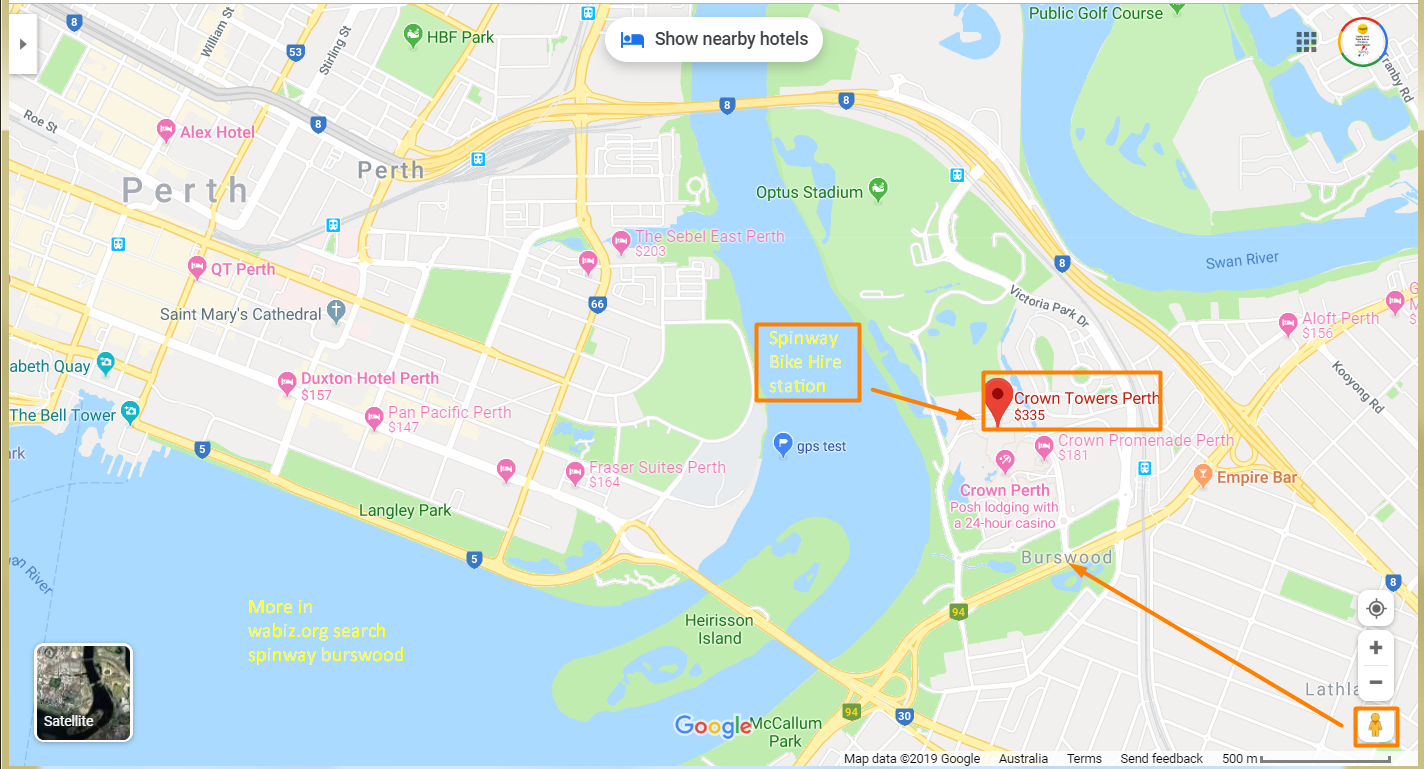 Crown Perth Parking Map