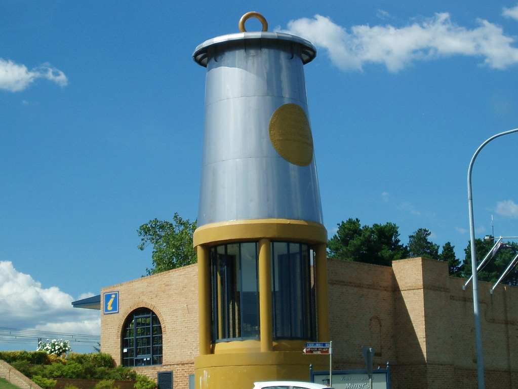 the big miner's lamp is a tourist information centre