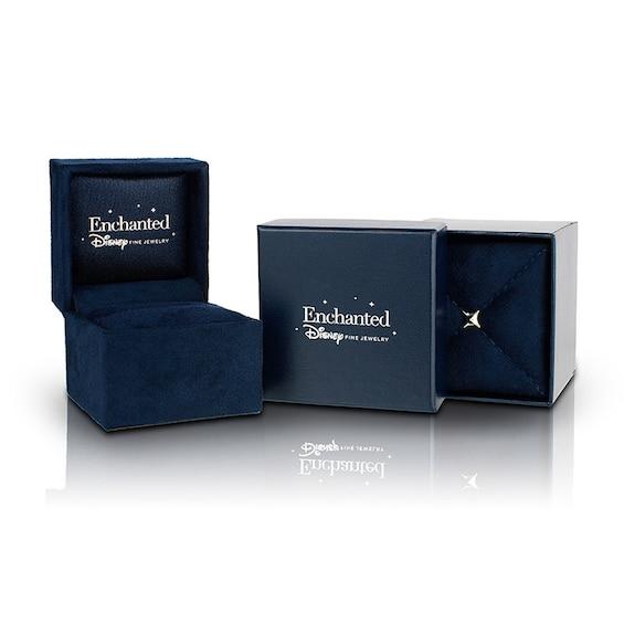 Enchanted Disney Villains Maleficent 1/3 CT. T.W. Enhanced Black Diamond Drop Earrings in Black Rhodium Sterling Silver