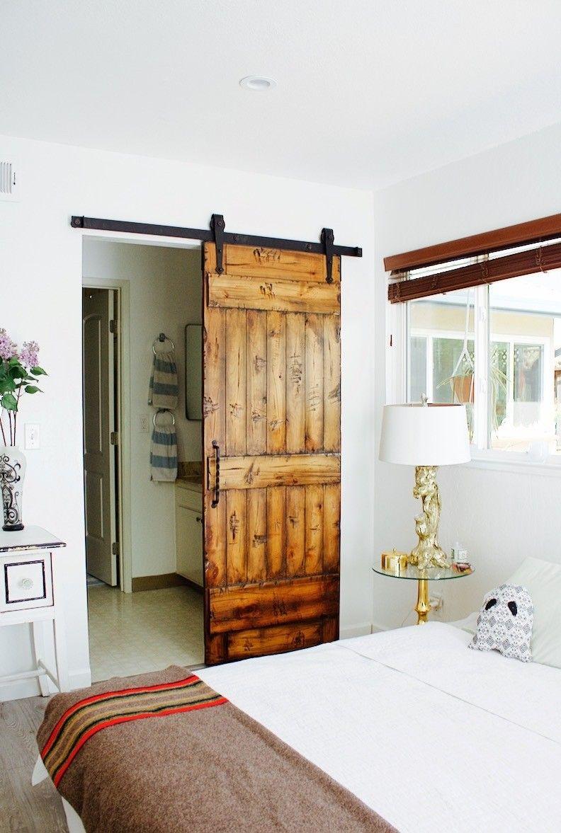 Barn Door Installation for Master Farmhouse Bedroom