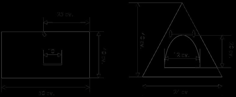 Треугольный зимний домик для кошки, чертеж