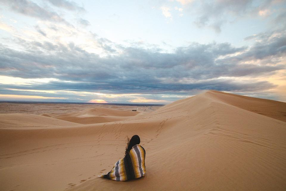 People, Woman, Alone, Travel, Adventure, Sand, Desert
