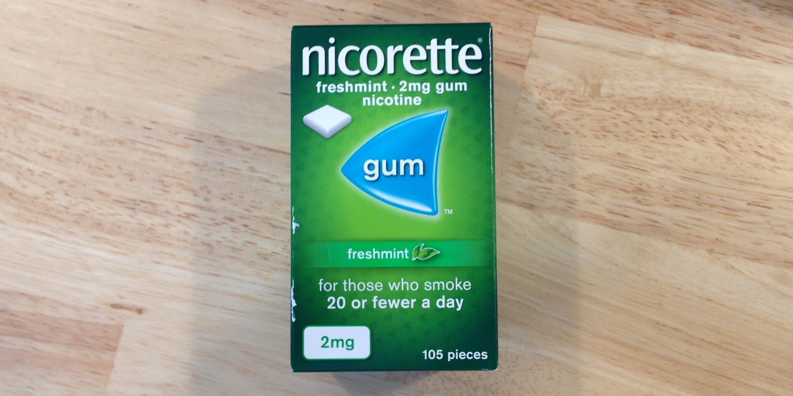 echo-nicorette-gum-2mg-on-table