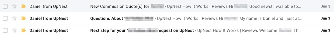 Upnest Emails