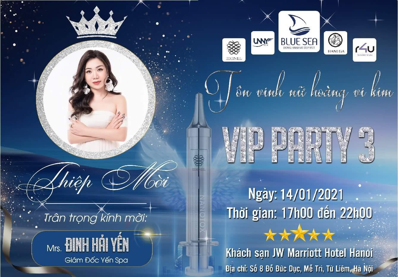 CEO Đinh Hải Yến tham gia sự kiện Vip Party.