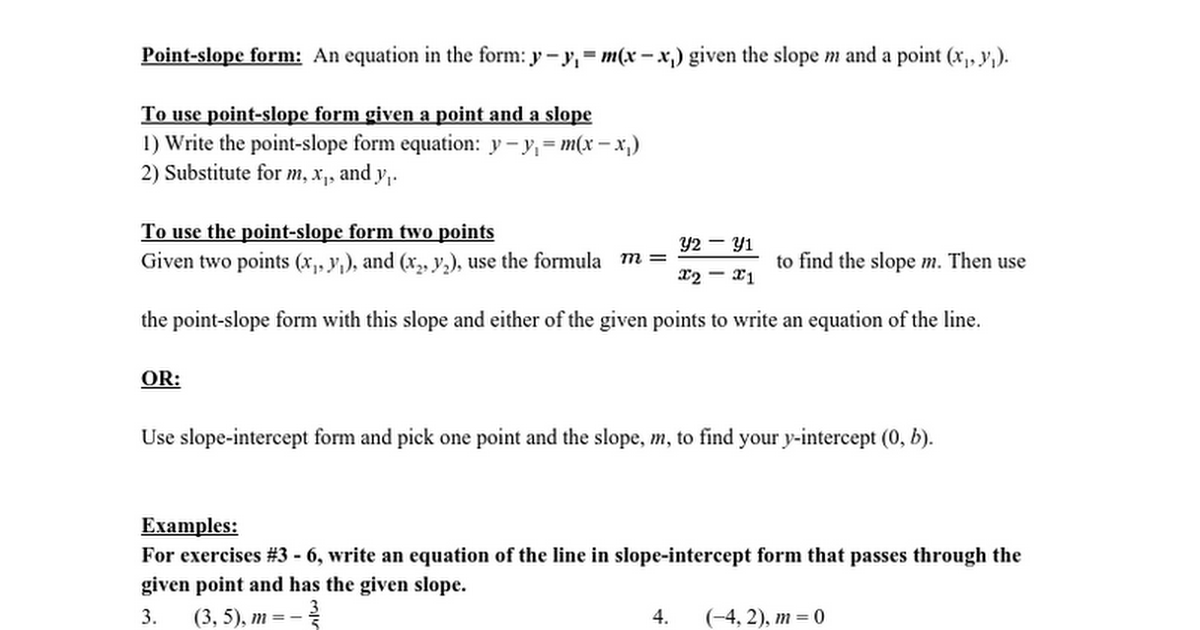 Worksheet Section 24 Student Examples More About Linear