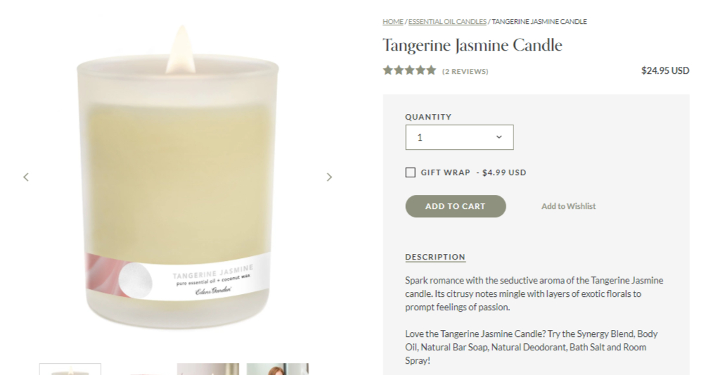 Tangerine - Product Descriptions Example