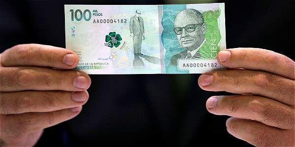 Así es el billete de 100 mil pesos que estrena Colombia (+Video)
