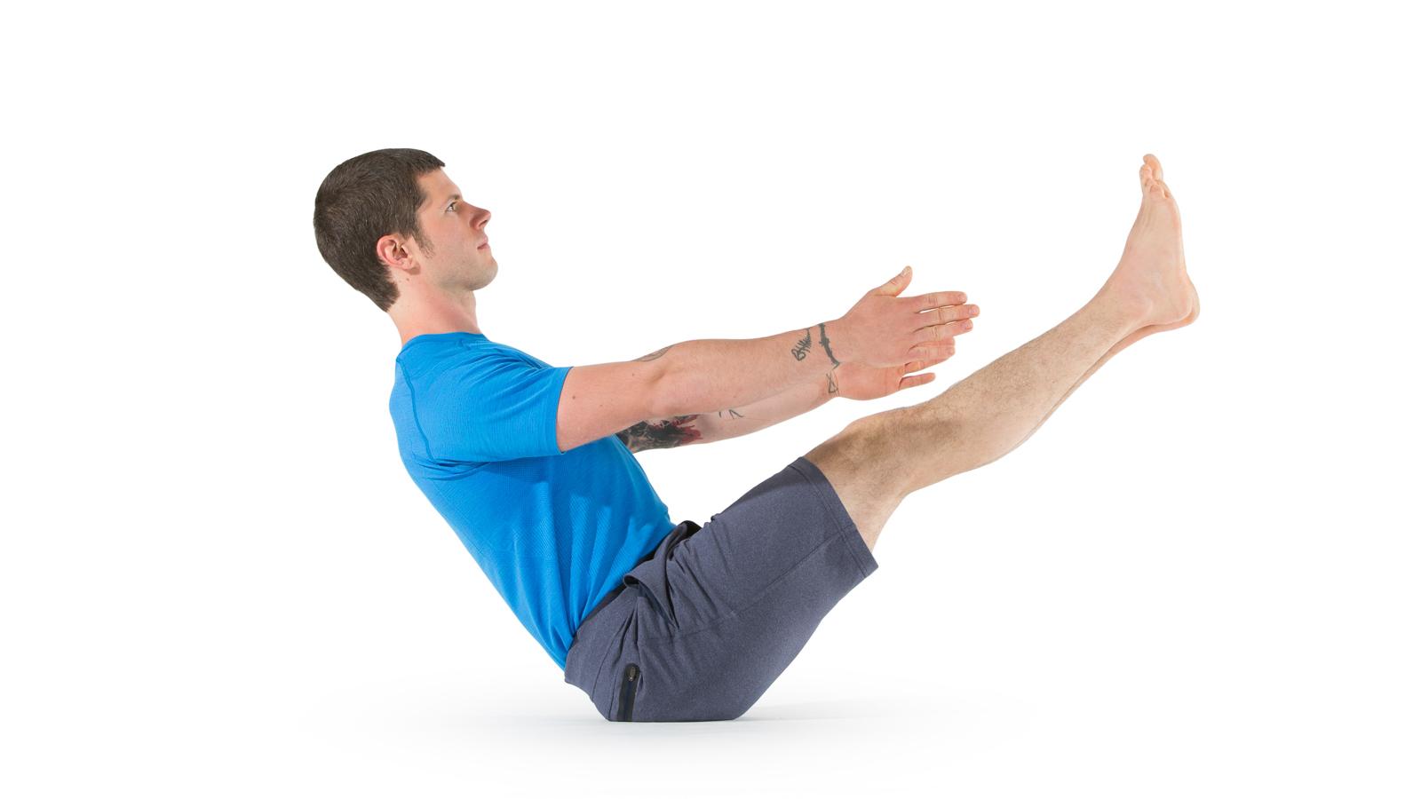 Tư thế con thuyền Boat Pose Naukasana - Bài tập yoga giảm béo bụng