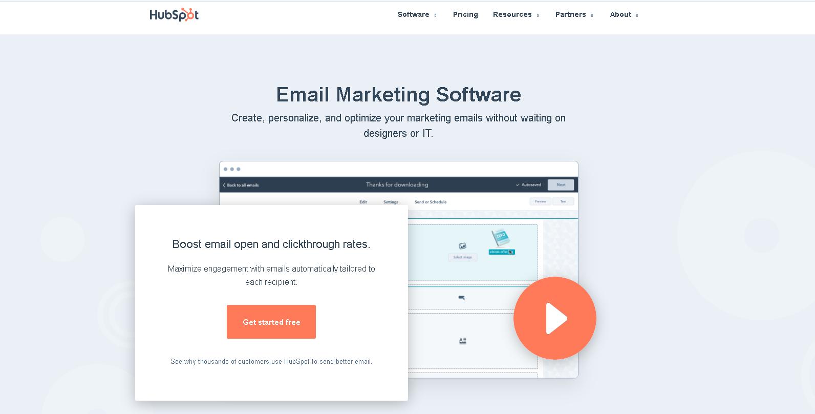 hubspot - mailchimp alternative