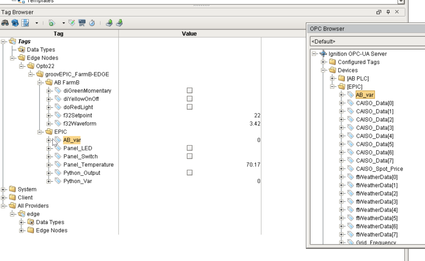 How to map/move AB/Siemens PLC tags to PAC Control tags via