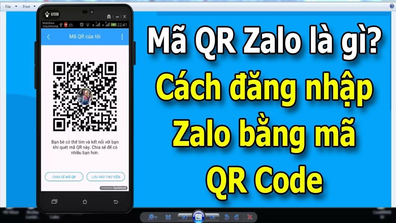 Zalo đăng nhập nhanh chóng với việc quét mã QR