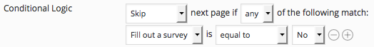 conditionally skip pages in a WordPress questionnaire plugin
