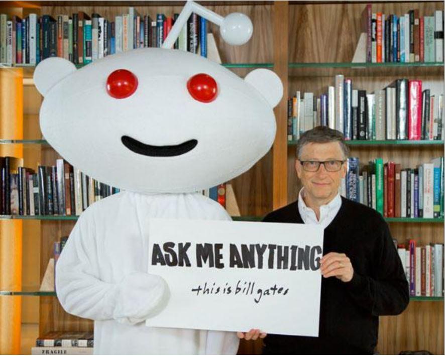 Основатель Microsoft Билл Гейтс в рубрике Ask me Anything