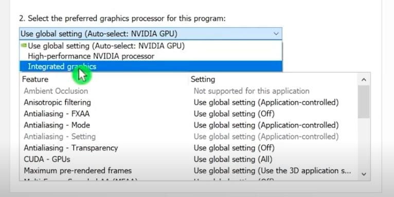 Integrated Graphics Option