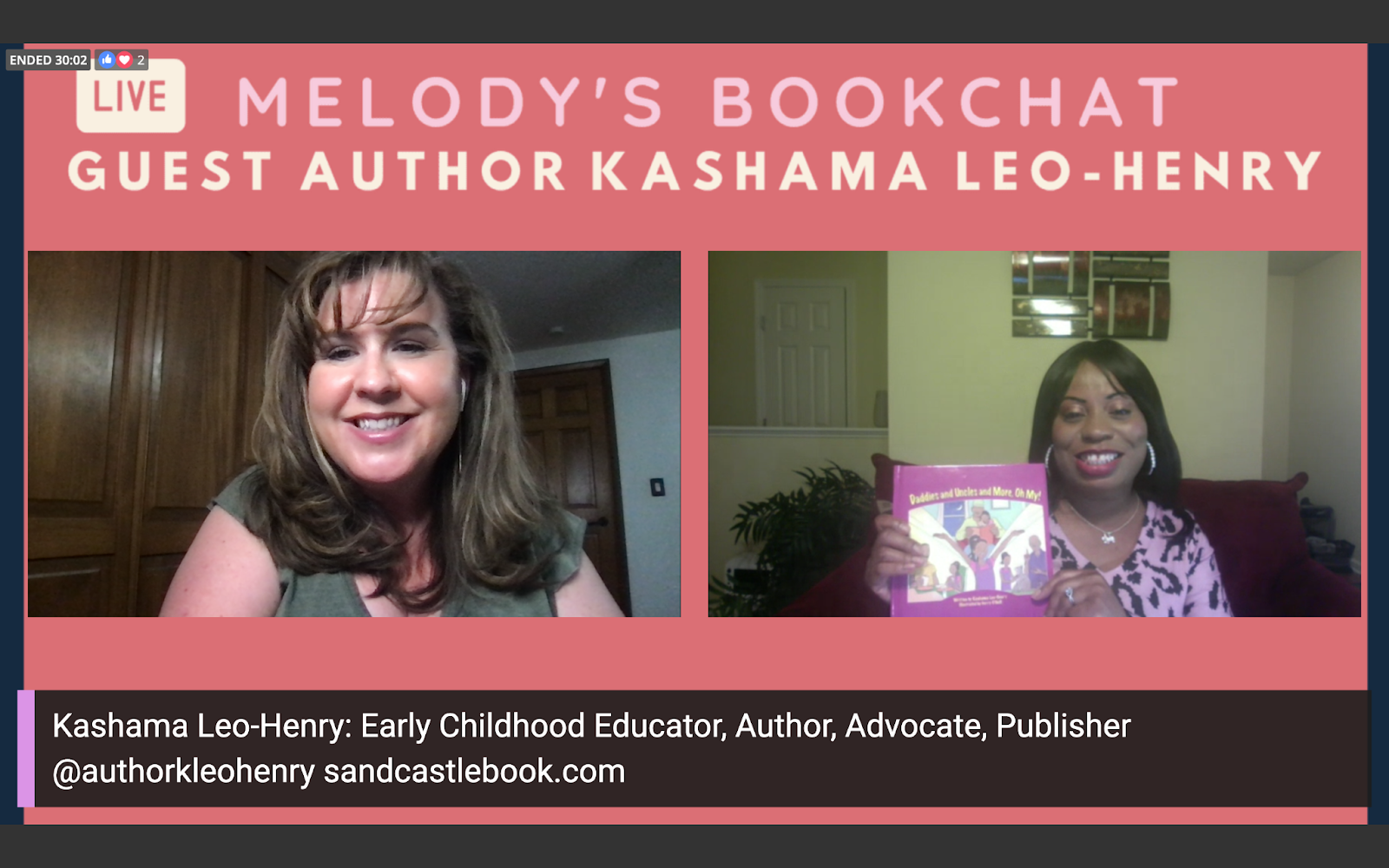 Book chat with children's book author Kashama Leo-Henry on her new book celebrating Black fathers and father figures