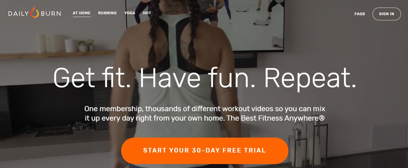 dailyburn - Fitness Website
