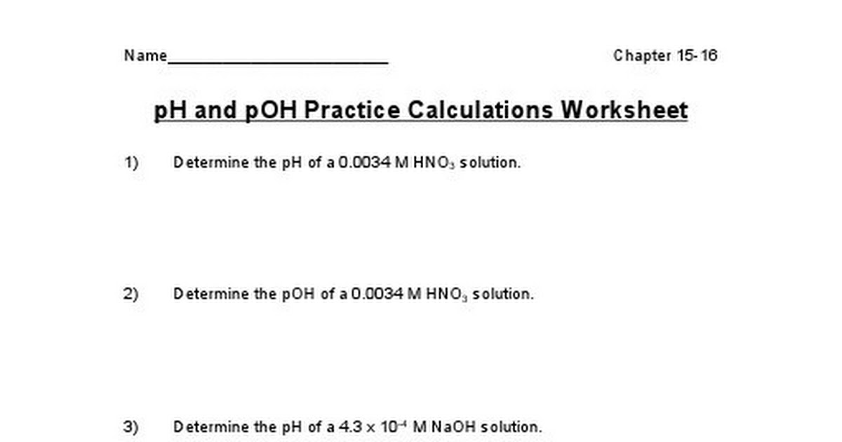 pH and pOH calculations practice worksheet.doc - Google Drive