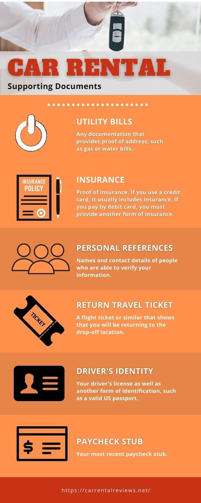 use a rental car