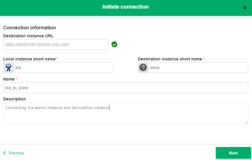 initiate a jira servicenow connection