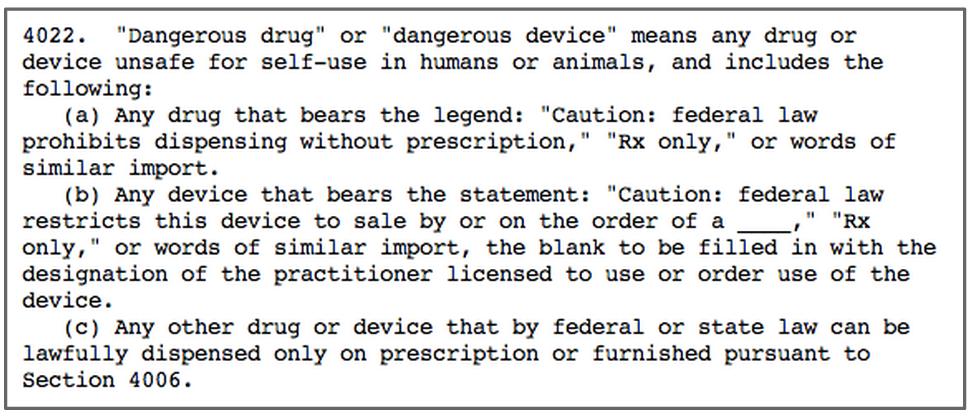 Definition of dangerous devices