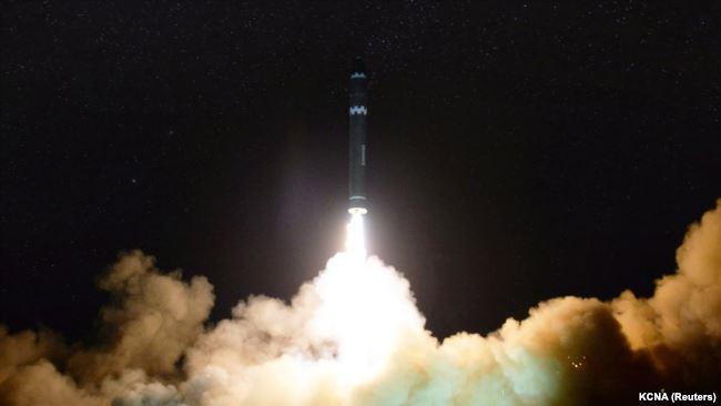 Запуск новой баллистической ракеты в Северной Корее