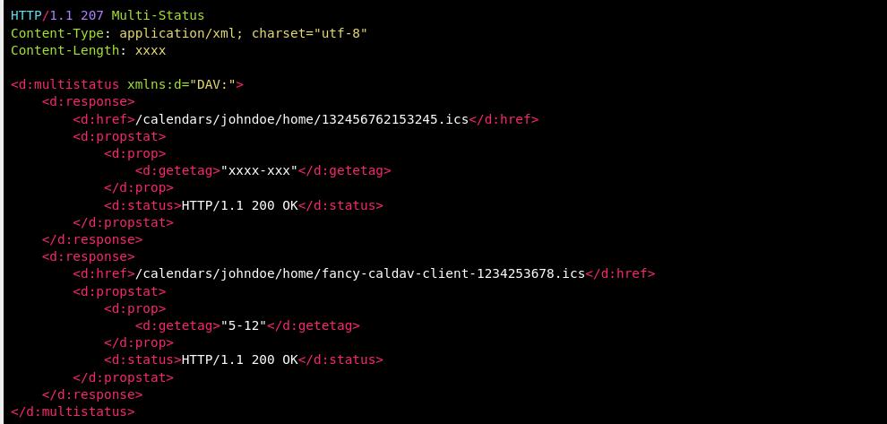 http status code 207 multi status example
