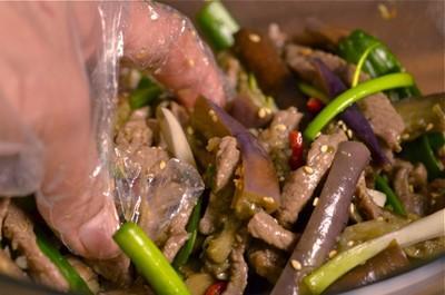 Thịt bò trộn cà tím