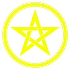 Image result for pentagram yellow