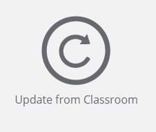 Update from Classroom icon