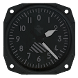 Aviator Clock Stealth