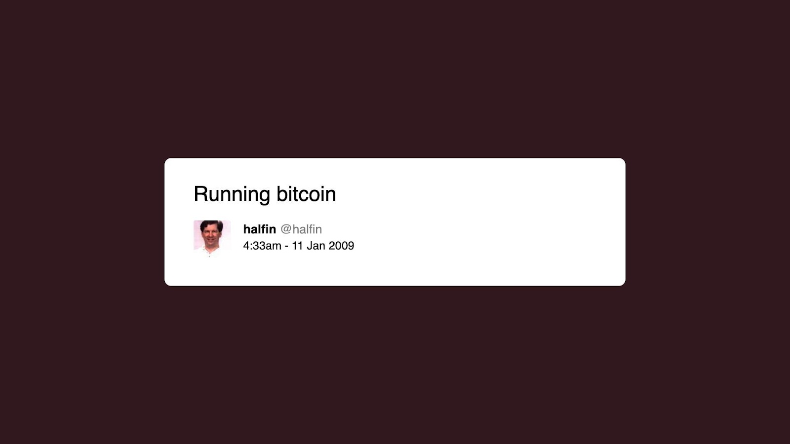 Hal Finney first bitcoin tweet