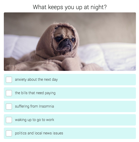 question about what keeps you up at night