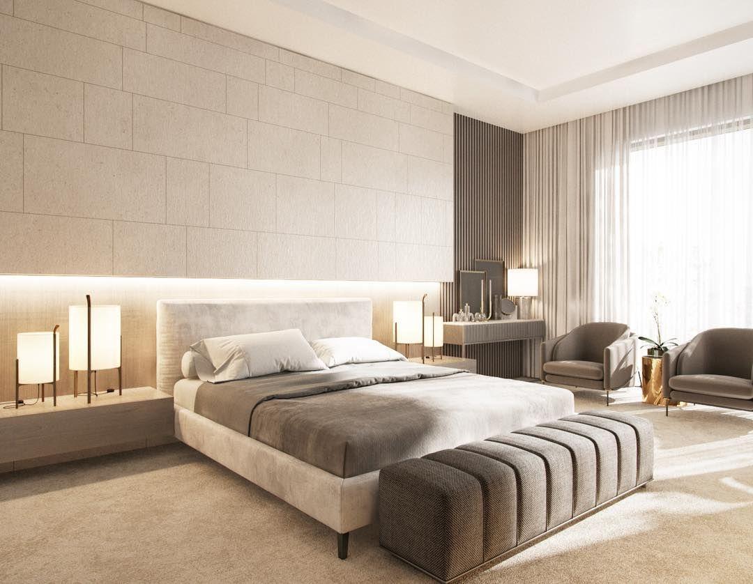 Phòng ngủ biệt thự sang trọng với màu ghi xám thanh lịch