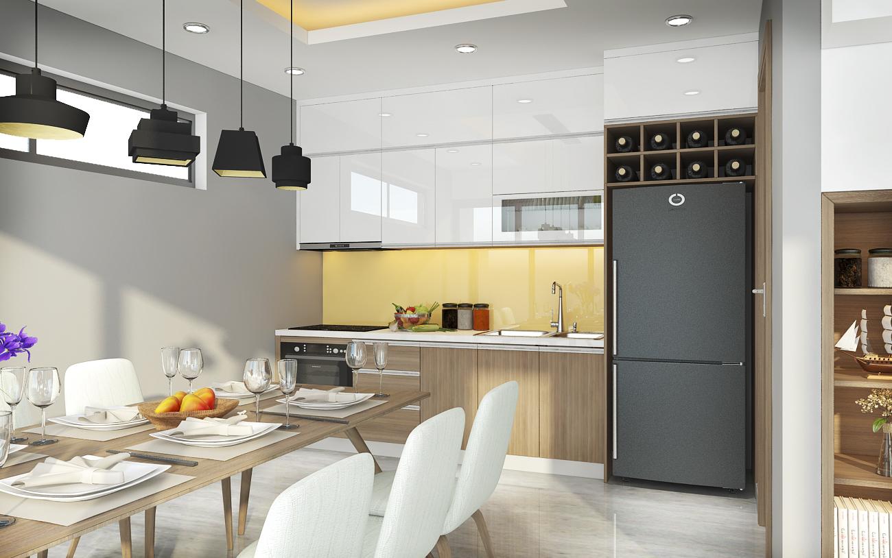 mẫu tủ bếp đẹp hiện đại tại Lephamhome