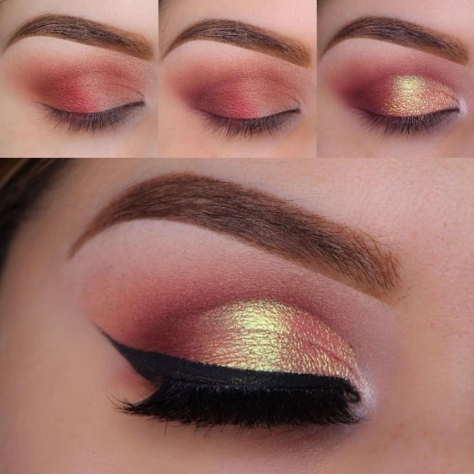 Rose Gold Lids eyeshadow looks