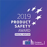 Honored with the EU product safety award 2019