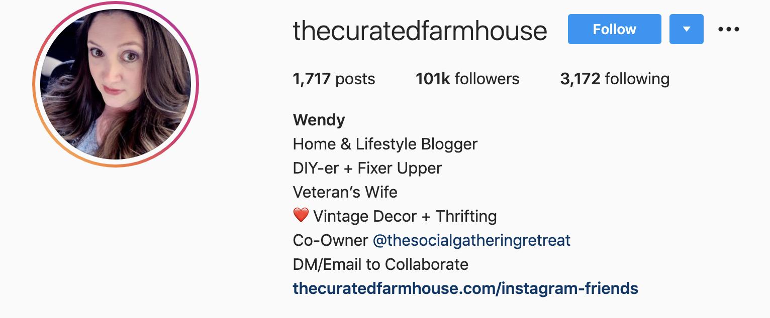 Wendy Zock | Instagram Bio