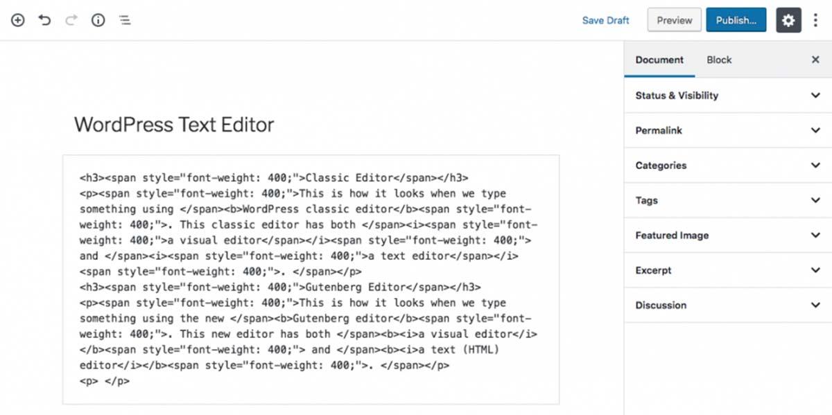 Captura de tela mostra os erros que podem aparecer no editor de texto (HTML) ao copiar parágrafos de outro software