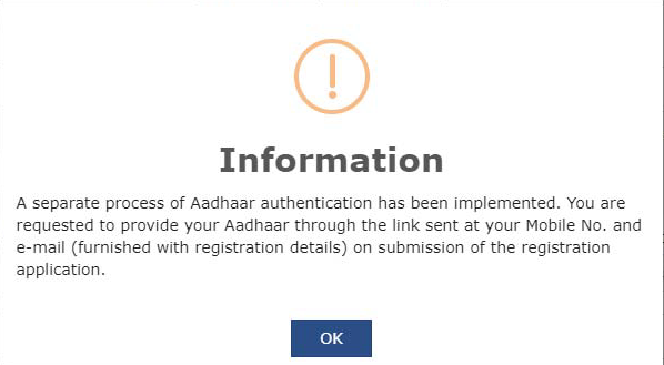 GST Registration Process with Aadhar Authentication