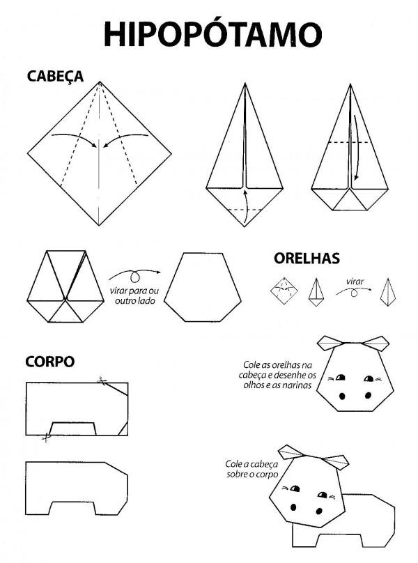 Hipopótamo Origami