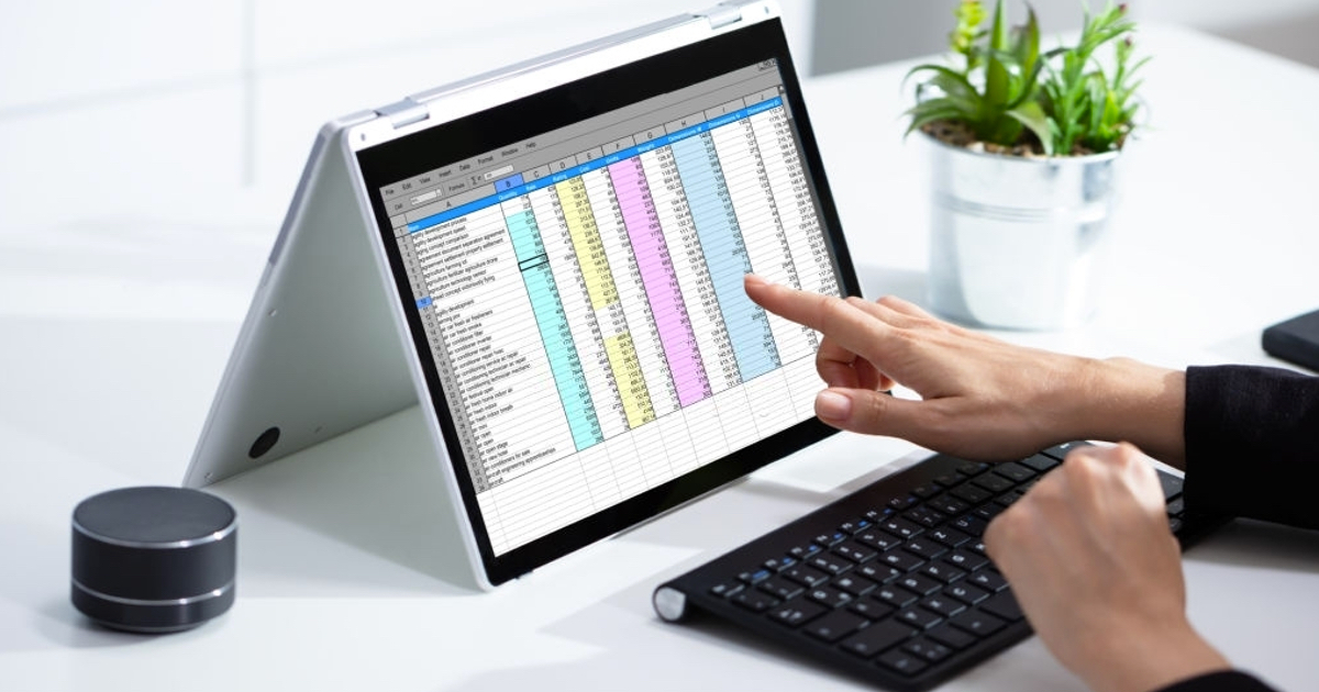 excel sheet with accounting data
