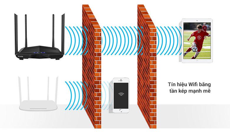 Thiết bị mạng/ Router Tenda AC10v3 | Tín hiệu Wifi băng tần kép mạnh mẽ