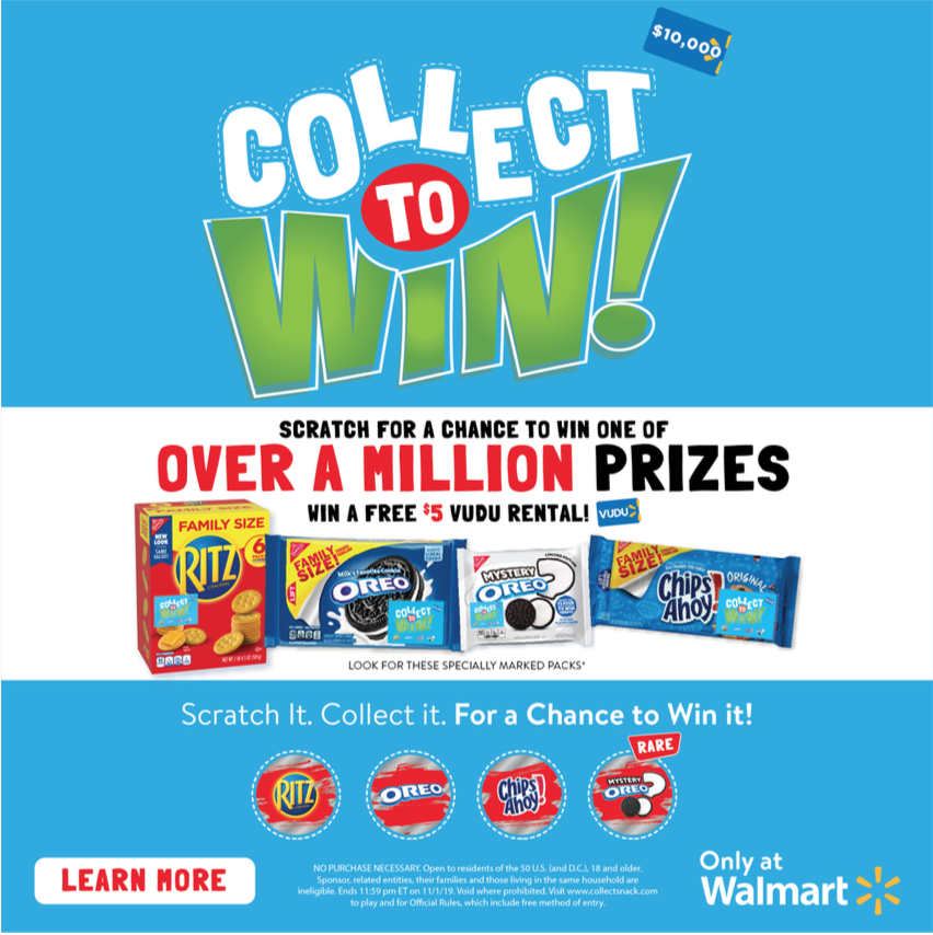 Collect to Win at Walmart With OREO, RITZ and CHIPS AHOY