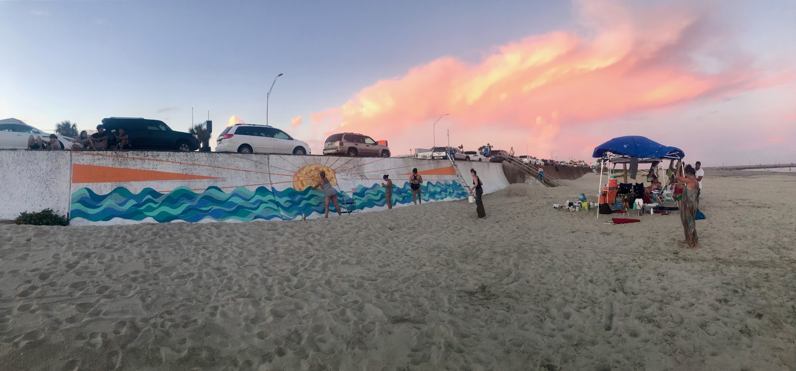 Civic Ignition Grant Update: Galveston Seawall Mural