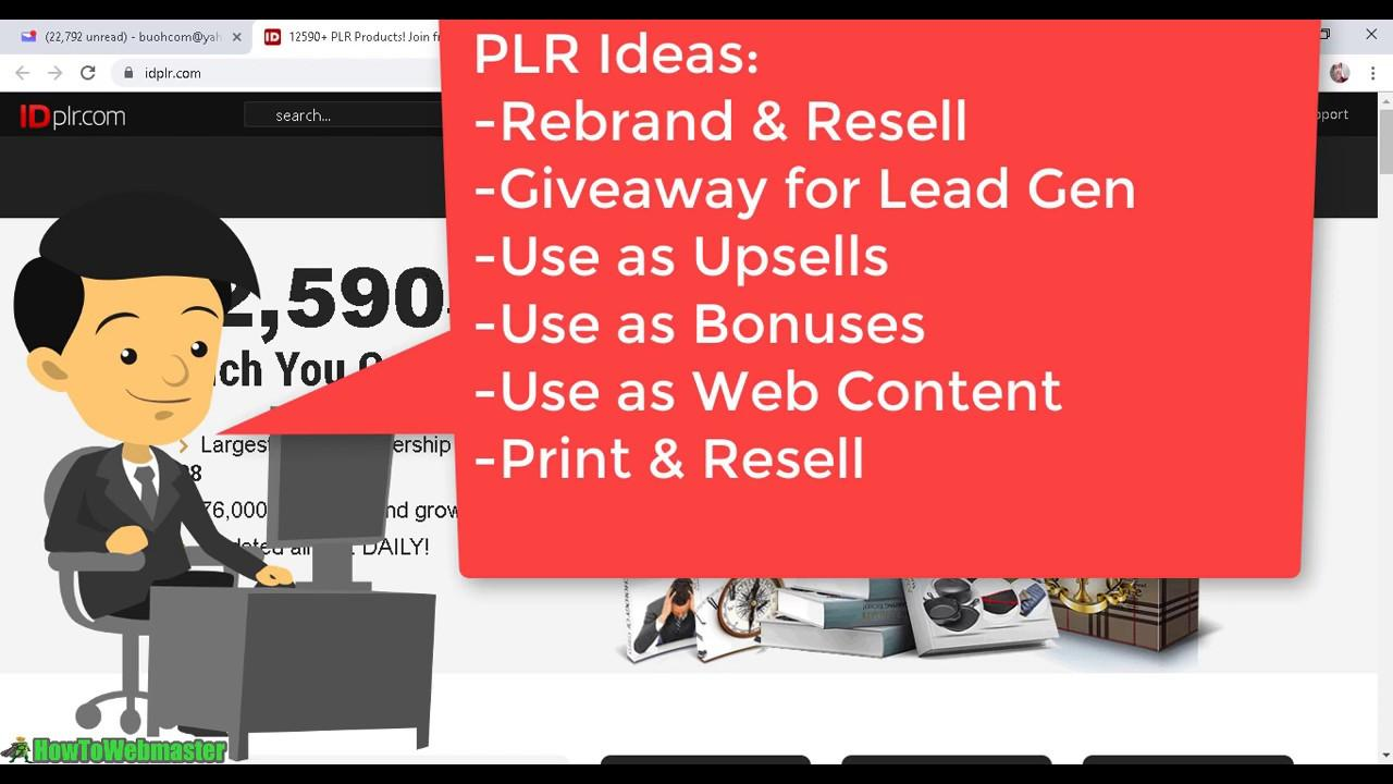 A LOOK INSIDE OF THE BEST PLR MEMBERSHIP - IDPLR REVIEW - YouTube