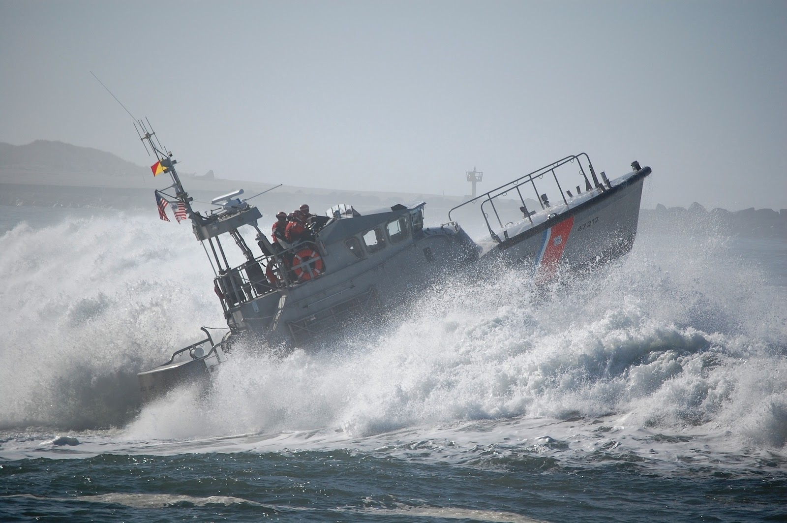 lifeboat on big waves